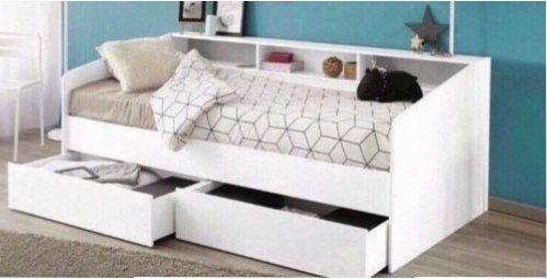 Etagenbett Doppelbett : Metall etagenbett doppelbett mit leiter und lattenroste in
