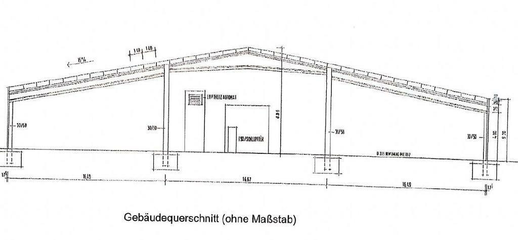 Halle (2.850 m² bis 5.700 m²) mit Büro und WC in 56626...